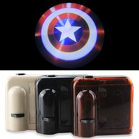 american car logos - American Captain America Shield Badge Logo Car Door LED Welome Logo Shadow Ghost Light Laser Projector LED Projection Light