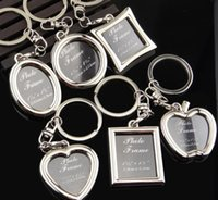 Wholesale 11 cm cm Wedding Gifts Mini Photo Frame Metal Key Ring Pendant Wedding Favors Party Gifts Boys Girls Gift
