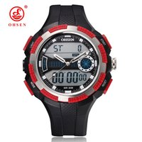band gif - 2016 NEW OHSEN Brand Digital Quartz Sport Mens Male Watch Hombre Wristwatch M Waterproof Silicone Band Red Dive Hand Clock Gif