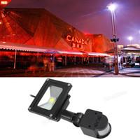 Impermeable 20W PIR infrarrojo del cuerpo del paisaje LED del sensor de movimiento de la luz de inundación del jardín AC 85-265V luz roja de la lámpara al aire libre LEG_801