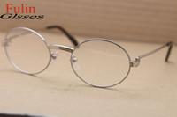 Men s round eyeglass frames España-El marco redondo de gama alta al por mayor del Vidrio-venta al por mayor 1168111 vidrios de la miopía de las lentes enmarca el tamaño eyewear de la vendimia: 55-21-135m m envío libre