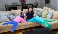 Wholesale 180 CM Adult Mermaid Sleeping Bags Winter Warm Double layer Flannel Mermaid Blankets Mermaid Tail Blanket Mermaid Tail Sleeping Bag