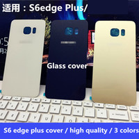 Wholesale For Samsung S6edge s6edge S6 G9280 original glass battery cover back cover rear case G9200 G9250 G9280 original back cover after screen