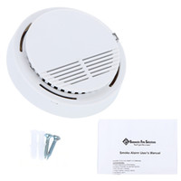 Wholesale Smoke Fire Alarms System Wireless Smog Detectors Alertors SS Photoelectric Wireless Home Security Alarms Systems With Battery