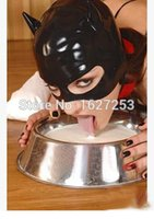 Wholesale Latex Rubber Hood Cat Mask Rubber Cat Mask Halloween Cat Mask
