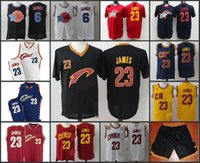 Wholesale A High Quality new arrival Cleveland Space JamLeBron James Black Blue Yellow Red retro jersey for mens