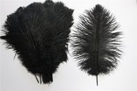 Cheap Hot Sale 35cm-40cm Cheap Black Ostrich Feather Hair Fur Fabric String For Wedding Table Decoration