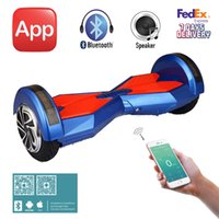 Wholesale UL2272 Inch APP Bluetooth Speaker Electric Scooter With LED Light Two Wheels Smart Balance Wheels Self Balancing Skateboard Hoverboard