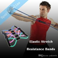 Wholesale Yoga expander Latex Elastic Stretch Resistance Bands Yoga Type Sport Bands Exercise For Body Building Fitness Equipment Tools