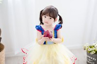 Wholesale 2016 new summer fashion cute girls fairy snow white vest with skirt dress skirt costumes zjh