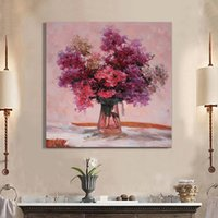 Wholesale Abstract Flower Oil Paintings Hand Painted On Canvas Wall Art Pictures For Living Room Decor x16 inch x20 inch