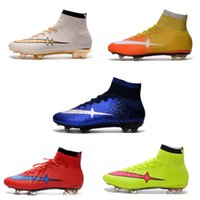 Wholesale Men Cristinao Superfly CR7 FG Football Shoes Hypervenom Phantom II FG Football Boots Magista Obra Soccer Shoes Sneakers Trainers Cleats
