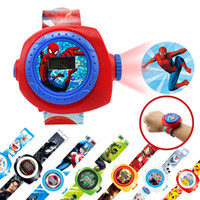 Wholesale 20 Images Cartoon D Toys Projector Watchs Spider Iron Captain Hulk Bat ME2 Puzzle Cartoon Toys DHL