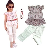 baby silk pant - 2016 Summer New Arrival Hot Sale Childrens Sets Girls Kids Black T shirt and Haren Flower Pants Two Piecess Sets Baby Girls Modern Sets