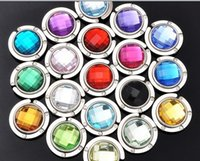 Wholesale Mixed colors Nice handbag Hook With Key Chain Acrylic bag Hanger Holder crystal hook Best selling