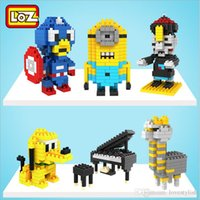 Wholesale Despicable Me Minion Dave Building Blocks German Loz Diamond Small Particles Intelligence Toys Educational Toys Children Toy Building Blocks