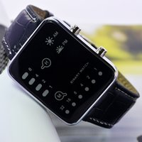 accutron quartz watch - 2016 HBY new arrival high quality leather strap LED fashion accutron electronic watch from china