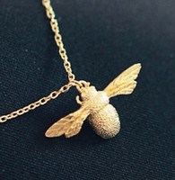 dgh - noble yellow gold filled bee pendant unsex necklace dgh