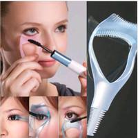 Wholesale 3 in Cosmetic Makeup Eyelash3 in Cosmetic Makeup Eyelash Curler Guard Applicator Comb Ma Curler Guard Applicator Comb Mascara Brush Tool