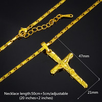 Wholesale 2016 new style explosion models the cross of Jesus carved gilt plated k gold necklace pendant men s jewelry ladies jewelry