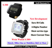 Wholesale 2016 New Waiter Pager Watch For Restaurant Waiter Wireless Calling System With Different Colours DHL