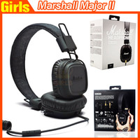 Wholesale Marshall Major MK II Black Headphones New Generation Headset Remote Mic nd pk MARSHALL MONITOR Se215 AAA quality