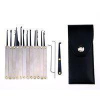 Wholesale 12pcs Training Lock Pick Set Locksmith Practice Tools With Transparent Cutaway for Opener Unlock Door