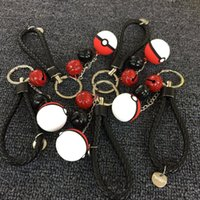 bells antique - Poke ball small bell power bank keyring key chain pocket monster weave braid Lanyard key Accessories keychain pendant for powerbank backpack