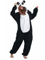 Wholesale Adult Cosplay Lover Panda Kigurumi Onesie Kigurumi Novelty Hooded Lounge Wear Homewear Pyjamas Sleepwear Set Nightwear K66L