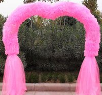 Wholesale Shaman marriage wedding flower door arches inflatable air background rack shelf bottom mantle road lead