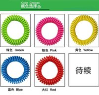 Wholesale Mosquito Repellent Spring Bracelets Anti Mosquito Pure Natural Baby Wristband Hand Ring colors available easy to use for kids