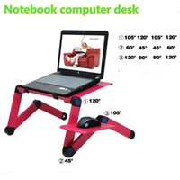 Wholesale 360 Degree Notebook Computer desk Portable Folding Metal Laptop Notebook Computer Stand Table Desk