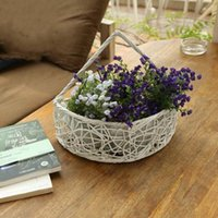 basket coffee table - Hanging Artificial Flower Basket Homes Garden Wedding Party Storage Suitable Decoration Coffee Shop Office Table Glorify
