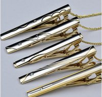 Wholesale top grade Mens Metal gold Tie Clips Bar Silver Wedding Necktie Clasp Clip Pins bow tie clips for man from Lomefo