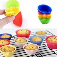 Wholesale 12 Set Cake Cup Kitchen Craft Colour works Silicone Cupcake Cases forma de silicone Cake Decorating Tools