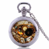 Wholesale Steampunk Cat Pocket Watch Necklace Steampunk Clock Necklace Steampunk Jewelry cat pocket watch
