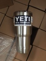 best car insulation - Best Quality YETI oz Rambler Tumbler Bilayer Stainless Steel Insulation Cup OZ Cups Cars Beer Mug Large Capacity Mug Tumblerful