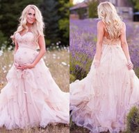 baby bridal dresses - Plus Size Wedding Dresses for Pregnant Women Sweetheart with D Flower Flower Tiers Tulle Baby Shower Modest Custom Made Bridal Gowns