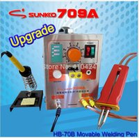 Wholesale 709A W Battery Spot Welder Soldering Station with Universal Welding pen for phone notebook lithium battery
