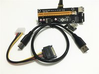 Wholesale PCI E PCI E PCIE Express x to x Riser Extender Adapter Card with cm USB Cable Power for Bitcoin BTC Miner Machine set