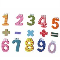 Wholesale 8 Sets Creative mathmatic numbers magnets set Wooden cartoon fridge magnet Baby early education magnetic stickers Set