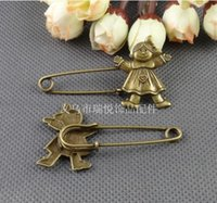 achat en gros de zakka pin-RYQY62 * pin 35MM bricolage Zakka accessoires matériel rétro bijoux