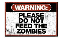 animal feed plant - Warning Please Do Not Feed the Zombies Art Classical Stylish Nice Home Decor Retro x36 inch Silk Poster wall decor