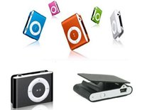 Wholesale Mini Clip Mp3 player with earphones usb cables retail package support Micro SD TF card Sport Mp3 Metal mp3s