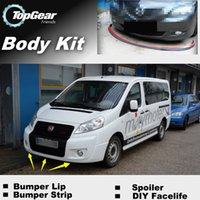 Wholesale Bumper Lip Lips For Fiat Scudo MK2 Front Skirt Deflector Spoiler For Car Tuning The Stig Recommend Body Kit Strip