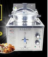 Wholesale 16L Stainless Steel Cooking Countertop Fried Chicken Duck Fish Meat Vegetable Chips Electric Pressure Fryer
