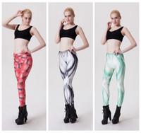 alphabet leggings - High Waist D Print Yoga Pant Slim Jogging Leggings Women Sports Trousers Muscle Love Green Camo English Alphabet Leopard LNSLgs