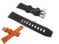 Wholesale Curved Black Buckles - 20mm 22mm watch bands high quality orange or black silicone rubber curved end sport watchband strap for OMEGA watch