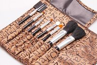 artists linen - Kevin teacher recommended JOJO eight piece of make up brush professional make up artist wood handle linen cloth brush