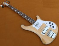 Wholesale New Top quality Rick model Ricken strings neck trough Electric Bass guitar nature neck thru binding bass